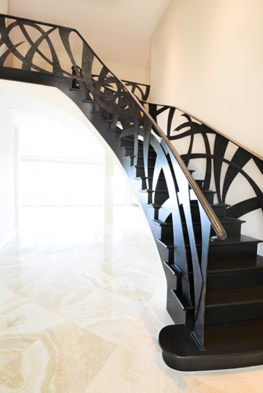 Custom stair railing scottsdale interior design for Custom staircase design